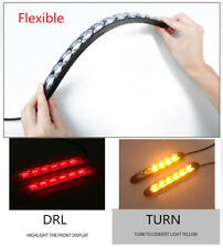 Red Amber Flowing LED Knight Light Strip Arrow Flasher DRL Turn Signal Lamp