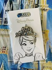 2021 Disney Parks Princess Tiara Crown Cinderella Pin New Oe