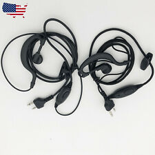 2X With PTT MIc Headsets/Earpiece for Midland 2/Two Way Radio Walkie Talkie