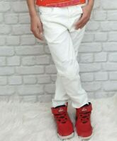 NEW Young Versace RRP £229 Designer Boys White Distressed Jeans 5 YRS kids A215