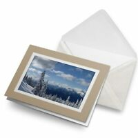 Greetings Card (Biege) - Snowy Forest Scene Snow Winter  #8084