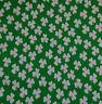 CHRISTMAS Green white snowball spot dotty spotty polycotton fabric craft bunting
