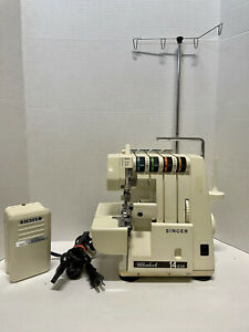 Singer 14U34B Serger Ultralock w/ Pedal Power Cord Tested Working Great EUC