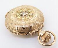 .*C.1913 Hamilton 941 Heavy 14K Multicolour Gold Box Hinge 18s 21J Pocket Watch