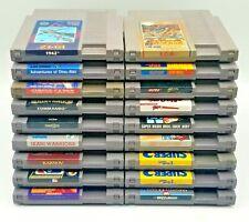 Nintendo NES 18 Games LOT Mega Man 4 Mario 3 Ikari Warriors 1942 Karnov