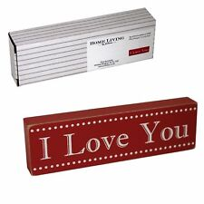 "Valentine's Juliana Mini Shelf/Mantel Red Block ""I Love You"" Sign"