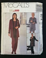McCall's SewNews Pattern 9514 Tall 20 - 24 Jacket Top Skirt Pull-On Pants Uncut