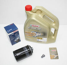 CASTROL EDGE FST 5W30 Motoröl + Bosch Ölfilter AUDI A4 8K B8 1.8 2.0 TFSI NEU