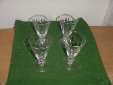 """Set of 4 Vintage Tiffin Cut Crystal Franciscan Willow 5"""" Stem Wine Glasses"""