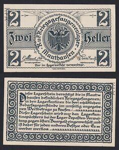 Austria - 2 Heller Lagergeld Mauthausen 1915 - 1918 Fds Unc- C-07
