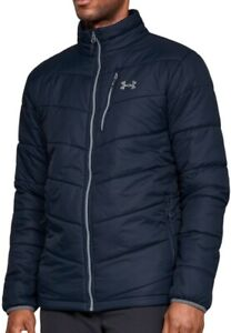 Under Armour CGI Thermal Mens Insulated Jacket Blue Full Zip Lightweight Coat