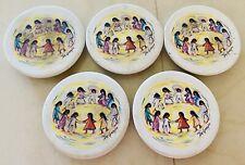 Vintage Ted De Grazia Los Niños Sandstone Dew Stopper Coasters Set/4