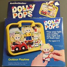 NEW Vintage 1979 Knickerbocker DOLLY POPS Outdoor Playtime NOS Doll Outfits Case