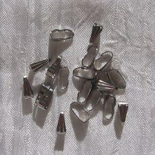 Lot de 20 bélières en acier inoxydable 8,5mm x 3,5 mm anti allergique *IN18