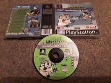 DEXTERS LABORATORY MANDARK'S LAB? PS1 PlayStation Game Rare Warner FREEPOST UK