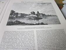 Frankfurt Archiv A 4 Geschichte 2045 Entwurf Goethedenkmal 1822 Radl