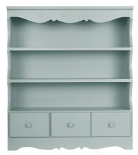 Pretty shabby / chic WALL DISPLAY UNIT. Shelving unit in duck egg blue