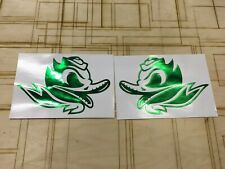Oregon Ducks Alternate Decals (2) Chrome Green Full Size Nike Pro Combat Edition