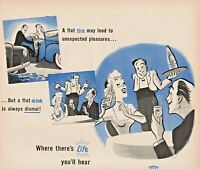 1945 Canada Dry Ginger Ale Vintage Print Ad Where There's Life You'll Hear