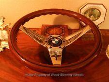 BMW E10  2000 Wood Steering Wheel deep dish  Vintage Hub NARDI BMW Horn Button