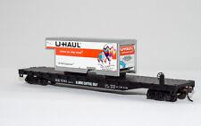 "HO U-Haul ""New Mexico"" With 54FT Illinois Central Gulf FlatCar 0001-009288"