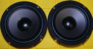 """NEW 2- 6.5"""" Woofers Poly Cone Speakers 4ohm Home & Car replacement DIY Pair"""