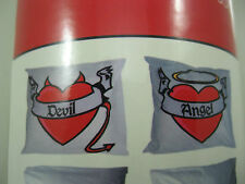 STOCK CLEARANCE ON DEVIL&ANGEL PILLOW CASES IN A TIN PERFECT GIFT