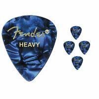 Fender Premium Colored Celluloid Guitar Picks 351 Blue Moto Heavy - 5 Picks