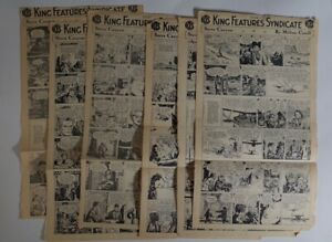 Steve Canyon Dailies, Milton Caniff, 1955 King Features, 6 pages, RARE