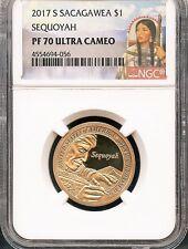 2017 S Sacagawea $1 Sequoyah NGC PF70 Ultra Cameo Red Portrait Label