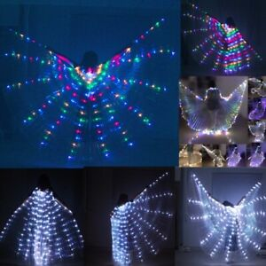 NEW LED Fairy wings isis wings Fast Free Ship belly dance cosplay prop wings