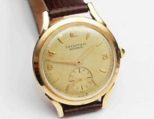 1950s vintage TIFFANY & CO AUTOMATIC 14K GOLD Mens Wristwatch - Working Fine
