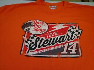 Tony Stewart Bass Pro Shops  Nascar Stewart Haas Racing Blaze Orange T Shirt 2XL