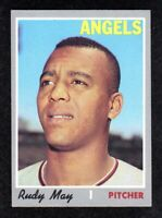 "1970 Topps #203 Rudy May California Angels Baseball Card  ""mrp""  EX/MT"