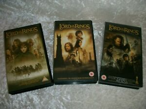 3 Lord of the Rings videos vhs