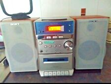 SONY hcd-ep313 Micro Hi-Fi Stereo System cmt-ep313 CD CD-R AM / FM / MD gratis UK P & P