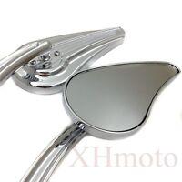 Custom Tailfin Mirrors Fit Harley CVO Road King Softail Street Glide Fat Bob Chr