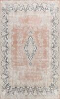 Antique Kirman Distressed Muted Area Rug Wool Evenly Low Pile Hand-knotted 10x13