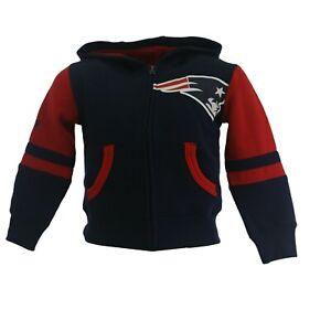 New England Patriots Official NFL Children Youth & Kids Size Full Zip Sweatshirt