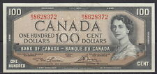 1954 BANK OF CANADA ONE HUNDRED DOLLAR B/J LAWSON BOUEY UNCIRCULATED BC-43c NOTE