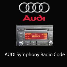 Audi Symphony Radio Codes Unlock Stereo Code PIN | Fast Service UK