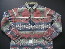 POLO RALPH LAUREN Men's Vintage Full Lined Thick Indian Print Cotton Shirt XS