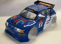 Carrozzeria Body Peugeot 205 scala 1/8 Turbo RC GT+SPOILER/ALETTONE