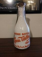 Tall Round Quart.Lucas Valley Dairy Milk Bottle. San Rafael, Reg. Calif.