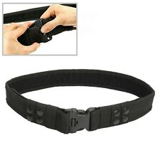 Black Tactical Security Guard Police Hunting Army Utility Military Duty Belt AU