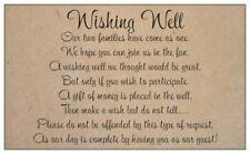 10 WISHING WELL CARDS wedding invitations plain kraft black print general gifts