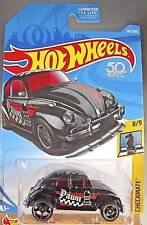 2018 Hot Wheels #262 Checkmate-Pawn VOLKSWAGEN BEETLE Black w/Black OH5 Spoke