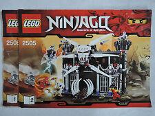 Lego Ninjago 2505  Garmadons Festung  kpl. + Bauanleitung  + 5 Figuren  TOP