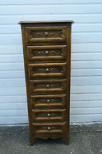 Tall Narrow Vintage Lingerie Jewelry Chest by Drexel Furniture 9845