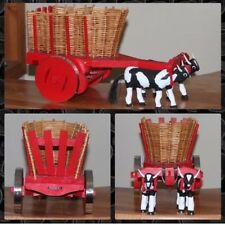 """Miniature Bull And Pulled Cart. HANDMADE by My Dad.  7""""H X 12""""L X 6""""W"""